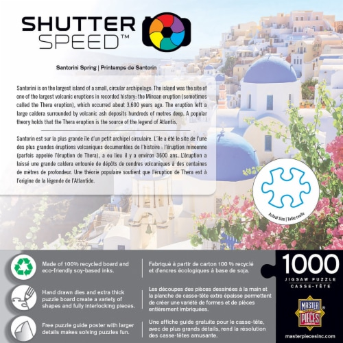 MasterPieces Shutter Speed Santorini Spring Jigsaw Puzzle Perspective: back