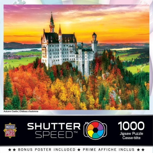 MasterPieces Shutter Speed Autumn Castle Jigsaw Puzzle Perspective: back