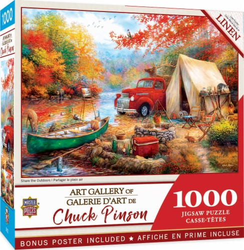 MasterPieces® Chuck Pinson Share the Outdoors Jigsaw Puzzle Perspective: back
