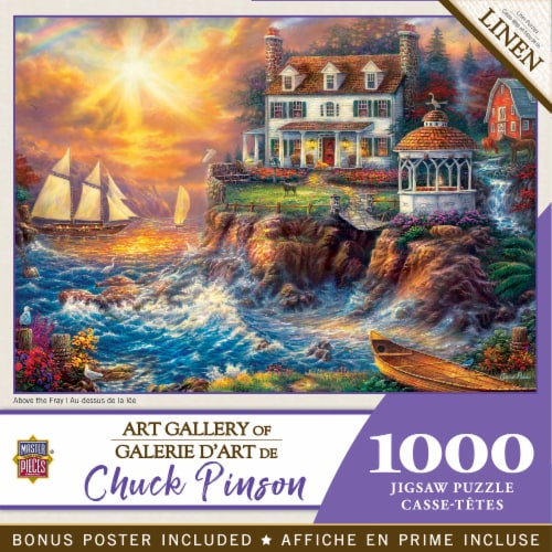 MasterPieces® Chuck Pinson Art Gallery Above the Fray Jigsaw Puzzle Perspective: back