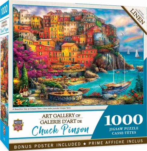 MasterPieces® Chuck Pinson Gallery A Beautiful Day at Cinque Terre Puzzle Perspective: back