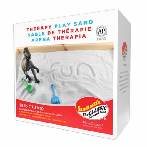 Sandtastik Therapy Play Sand - Beach - 25 lb. Box Perspective: back