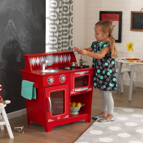 KidKraft Classic Kitchenette - Red Perspective: back