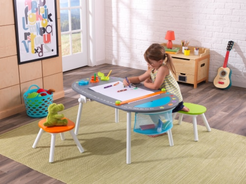 KidKraft Chalkboard Art Table with Stools Perspective: back