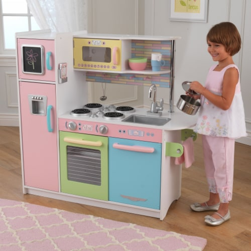KidKraft Uptown Pastel Play Kitchen Perspective: back