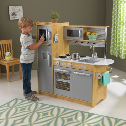 KidKraft Uptown Natural Play Kitchen Perspective: back