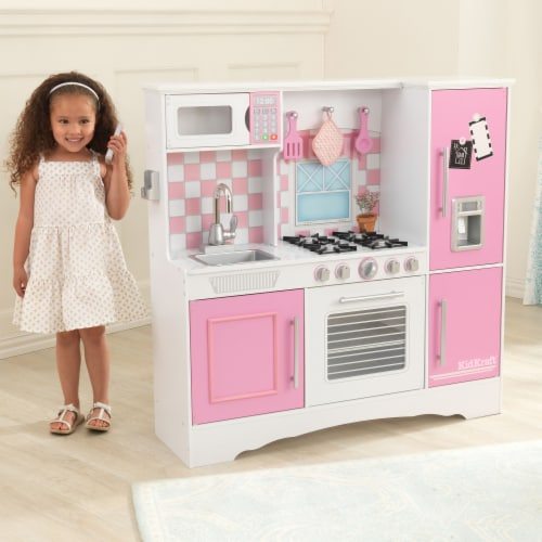 KidKraft Culinary Play Kitchen - Pink Perspective: back
