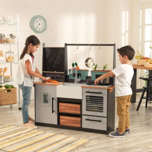 KidKraft Farm to Table Play Kitchen with EZ Kraft Assembly™ Perspective: back