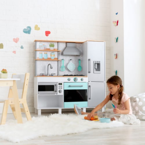 KidKraft Gourmet Chef Play Kitchen with EZ Kraft Assembly™ Perspective: back