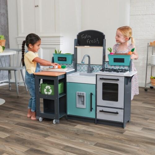 KidKraft Garden Gourmet Play Kitchen with EZ Kraft Assembly™ Perspective: back