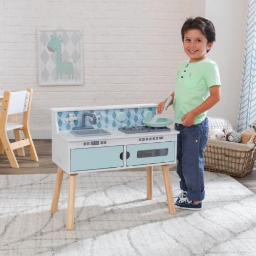 KidKraft Play & Put Away Wooden Kitchen Perspective: back