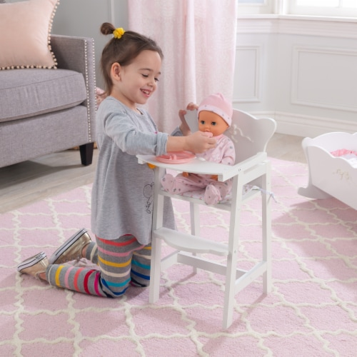 KidKraft Tiffany Bow Lil Doll High Chair Perspective: back