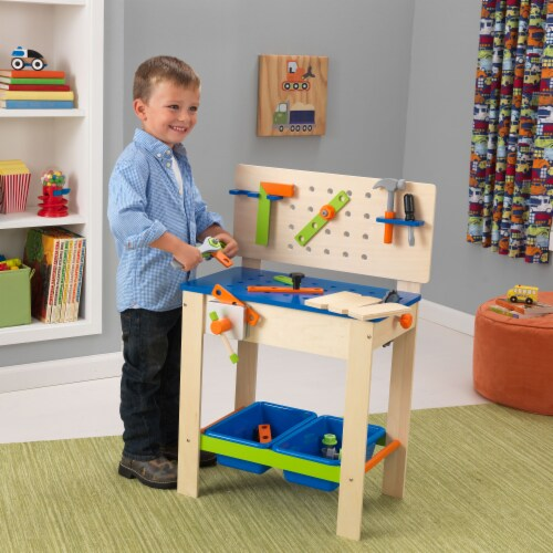 KidKraft Deluxe Workbench with Tools Perspective: back