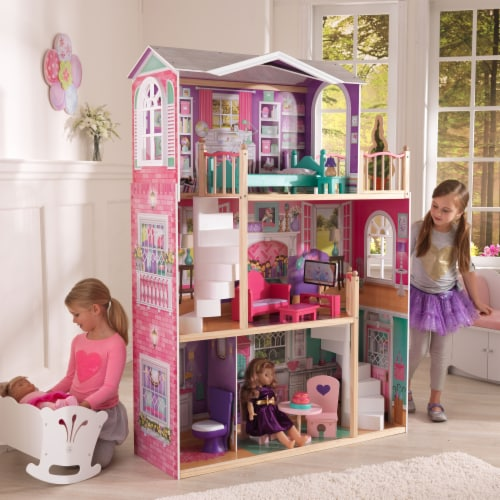 KidKraft 18-Inch Dollhouse Doll Manor Perspective: back