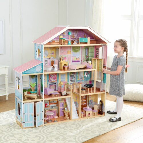KidKraft Grand View Mansion Dollhouse with EZ Kraft Assembly™ Perspective: back