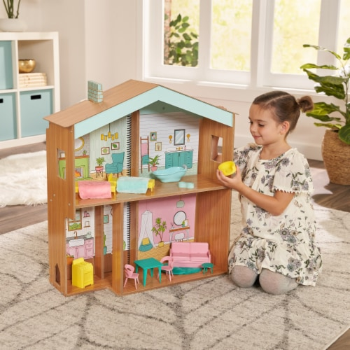 KidKraft Designed by Me™:Color Decor Dollhouse Perspective: back