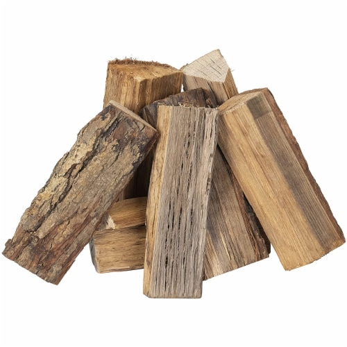 Smoak Firewood Kiln Dried Cooking Grade Wood Mini Logs, Hickory, 8-10 Pounds Perspective: back