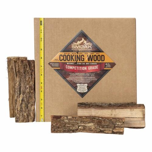 Smoak Firewood 25-30 Pound Hickory Kiln Dried USDA Cooking Grade Wood Mini Logs Perspective: back