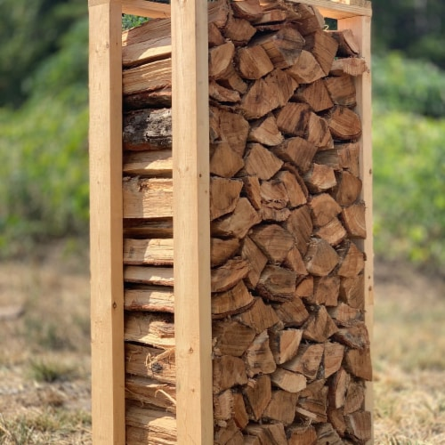 Smoak Firewood Kiln Dried Cooking Grade Wood Mini Logs, White Oak, 8-10 Pounds Perspective: back
