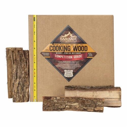 Smoak Firewood 25-30 Pound White Oak Kiln Dried Cooking Grade Wood Mini Logs Perspective: back