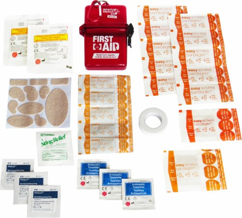 Adventure® Water-Resistant First Aid Kit Perspective: back