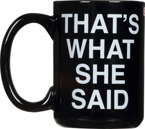 Zak!® Large Ceramic The Office Mug - Black Perspective: back