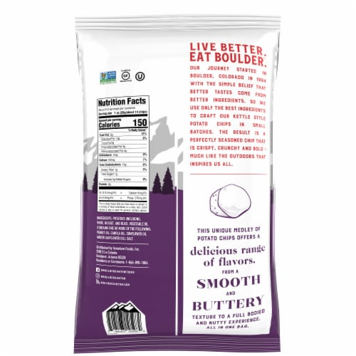 Boulder Canyon Gourmet Medley Kettle Style Potato Chips Perspective: back
