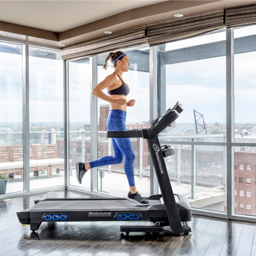 Nautilus T618 Performance Tracking Home Workout Training Treadmill Machine Perspective: back