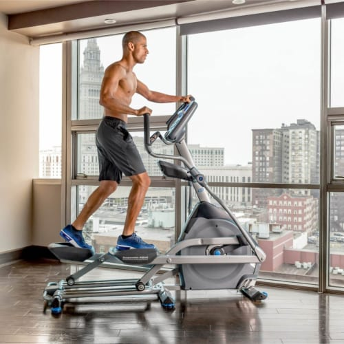 Nautilus E618 Performance Series Home and Gym Workout Cardio Elliptical Trainer Perspective: back