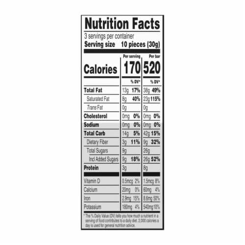 Green & Black's Organic 70% Dark Chocolate Bar Perspective: back