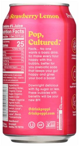 poppi Strawberry Lemon Prebiotic Soda Perspective: back