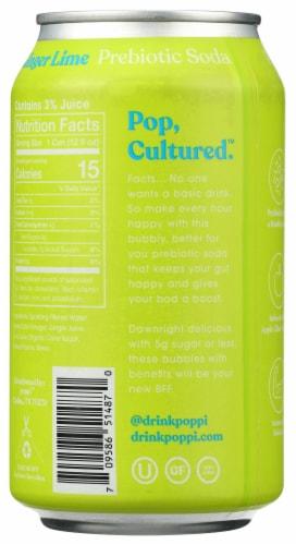 poppi Green Lime Prebiotic Soda Perspective: back