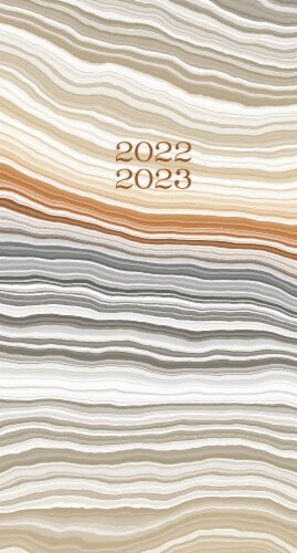 Abstract Layers  2022-23 2-year Pocket Planner Perspective: back