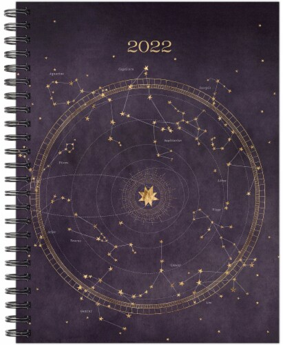 Celestial 2022 8.5  x 11  Softcover Weekly Large Planner Perspective: back