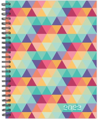 Geometric Design 2022 8.5  x 11  Softcover Weekly Large Planner Perspective: back