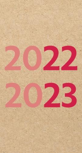 Kraft 2022-23 2-year Pocket Planner Perspective: back