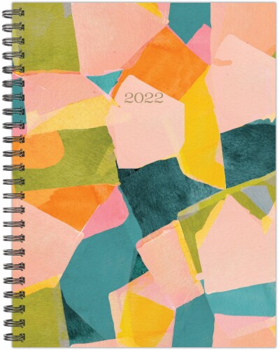 Blocked Colors 2022 6.5  x 8.5  Softcover Weekly Planner Perspective: back