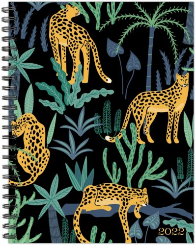 Leopard Print 2022 6.5  x 8.5  Softcover Weekly Planner Perspective: back