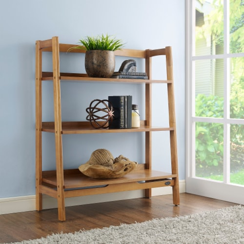 Crosley Landon Tall Bookcase - Acorn Perspective: back