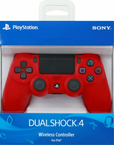 Sony PlayStation4 DualShock4 Wireless Controller - Magma Red Perspective: back