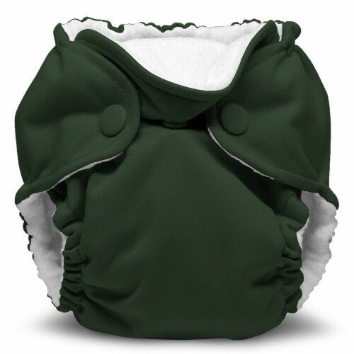 Kanga Care Lil Joey Newborn All in One AIO Cloth Diaper (2pk) Pine 4-12lbs Perspective: back