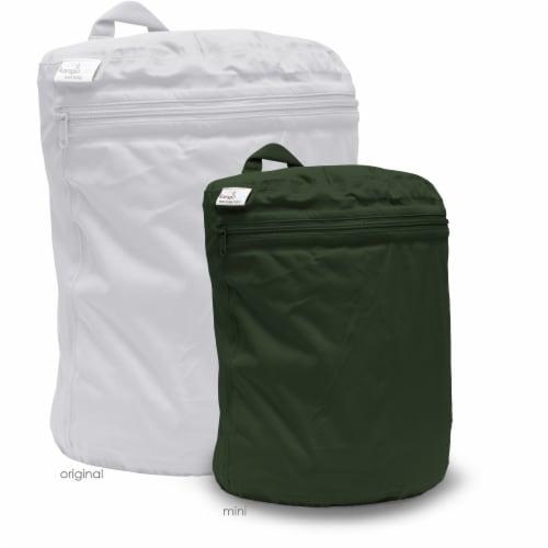 Kanga Care 3D Dimensional Seam Sealed Wet Bag Mini   Pine Perspective: back
