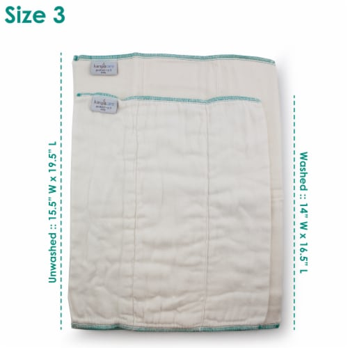 Kanga Care Bamboo Prefold Cloth Diapers (6pk) - Size 3 : Baby Perspective: back