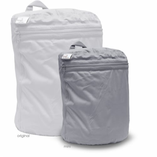 Kanga Care 3D Dimensional Seam Sealed Wet Bag Mini   Platinum Perspective: back