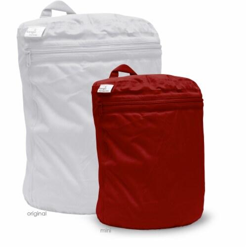 Kanga Care 3D Dimensional Seam Sealed Wet Bag Mini   Scarlet Perspective: back