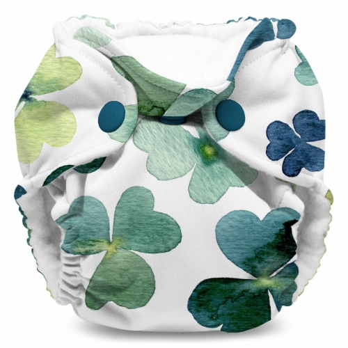 Kanga Care Lil Joey Newborn All in One AIO Cloth Diaper (2pk) Clover 4-12lbs Perspective: back