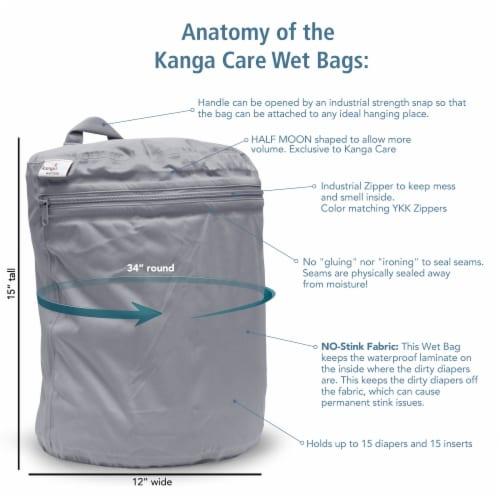 Kanga Care 3D Dimensional Seam Sealed Wet Bag - Lava Perspective: back