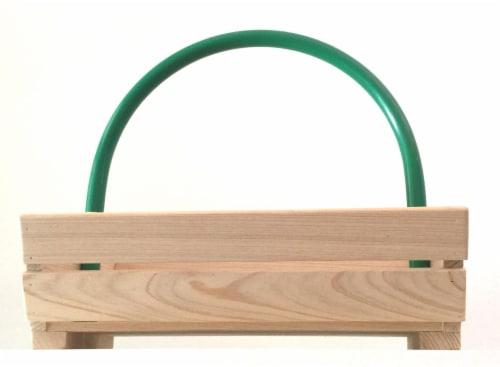 Leaf Gulp Tall Handcrafted Cypress Garden Basket Perspective: back