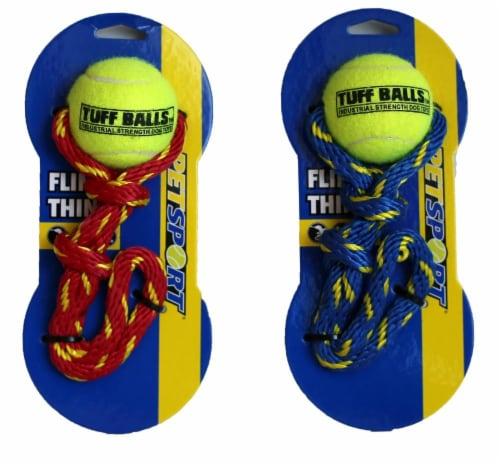 Petsport Fling Thing Tuff Balls Dog Toy Perspective: back