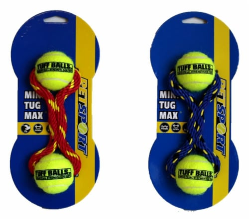 Petsport Mini Tug Max Tuff Balls Dog Toy Perspective: back